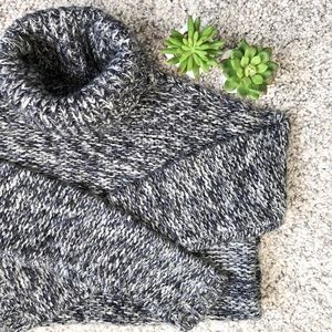 Speckled chunky turtleneck sweater